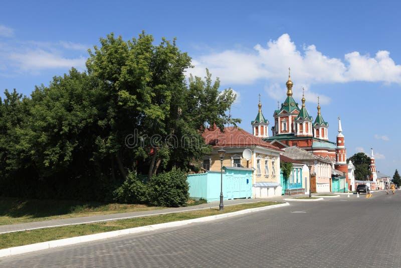 街道在Kolomna克里姆林宫 库存图片