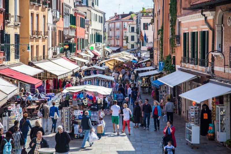 街道场面在威尼斯 免版税库存图片