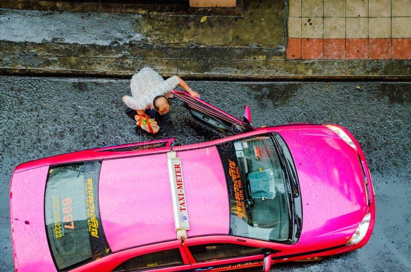 街道场面在曼谷 免版税库存照片