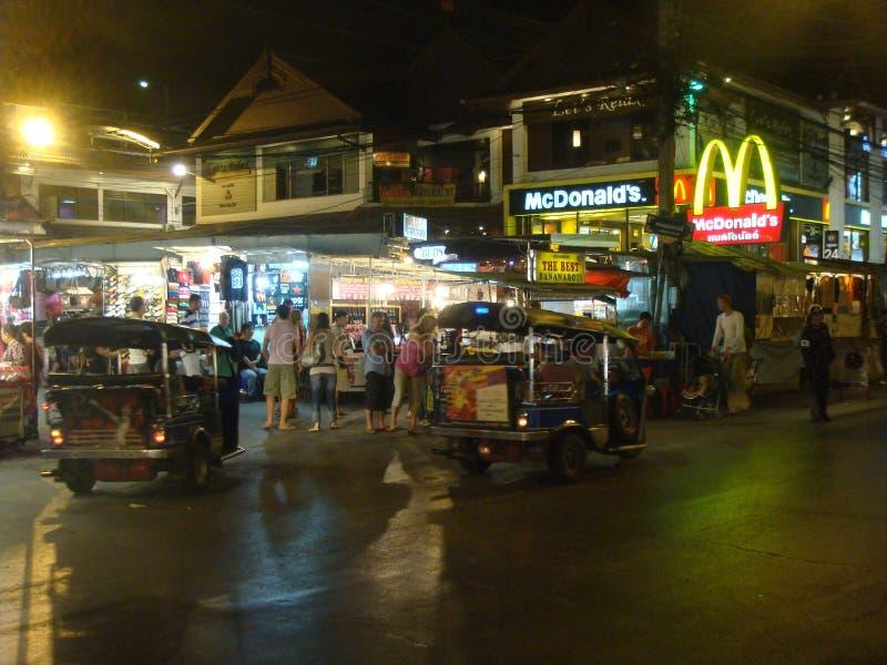 街道场面,张mai,泰国 免版税库存照片