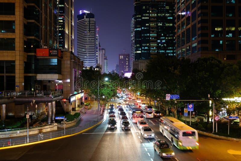街道峡谷在上海,中国 图库摄影