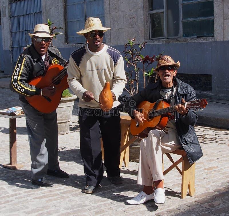 街道带在哈瓦那古巴 免版税库存照片
