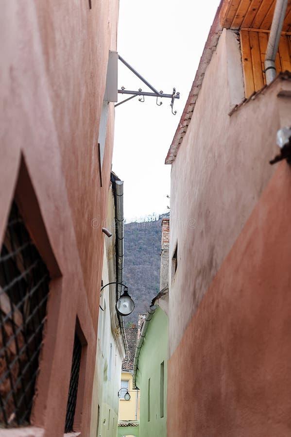 绳索街道或Sforii街 库存照片