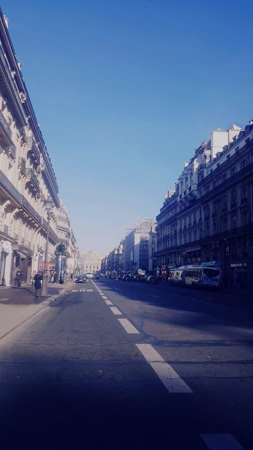 街道摄影在巴黎 免版税库存照片