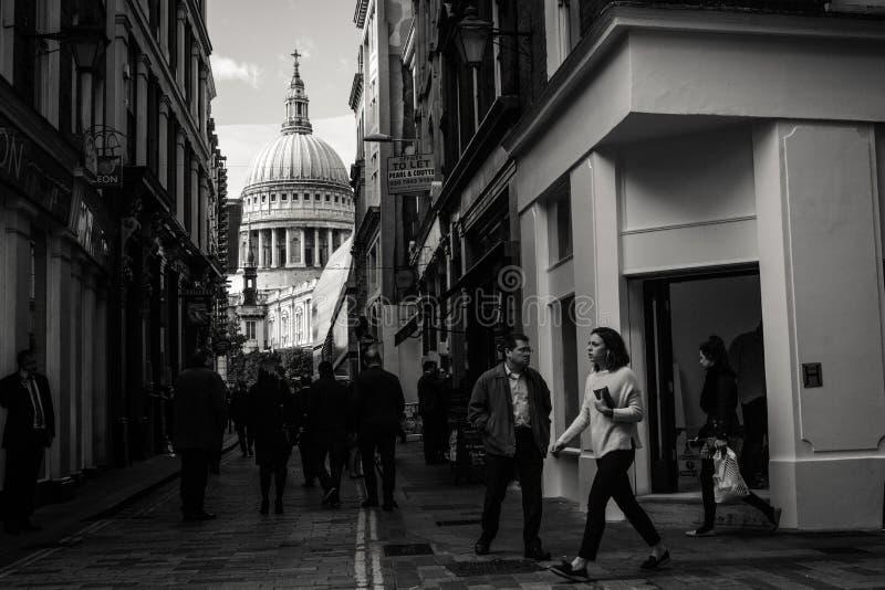 街道摄影,伦敦圣保罗 免版税库存照片
