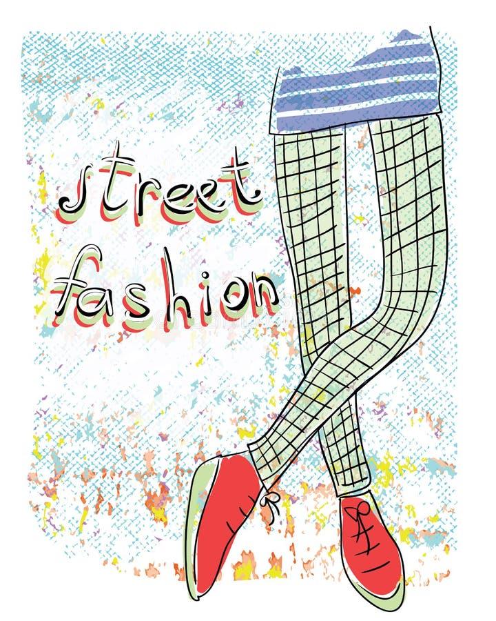 街道时尚 库存例证