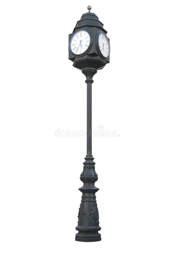 街道时钟 免版税图库摄影
