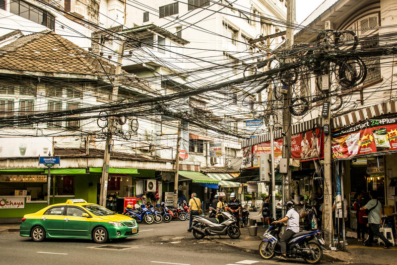 街道曼谷泰国高峰时间每日事务2 库存图片