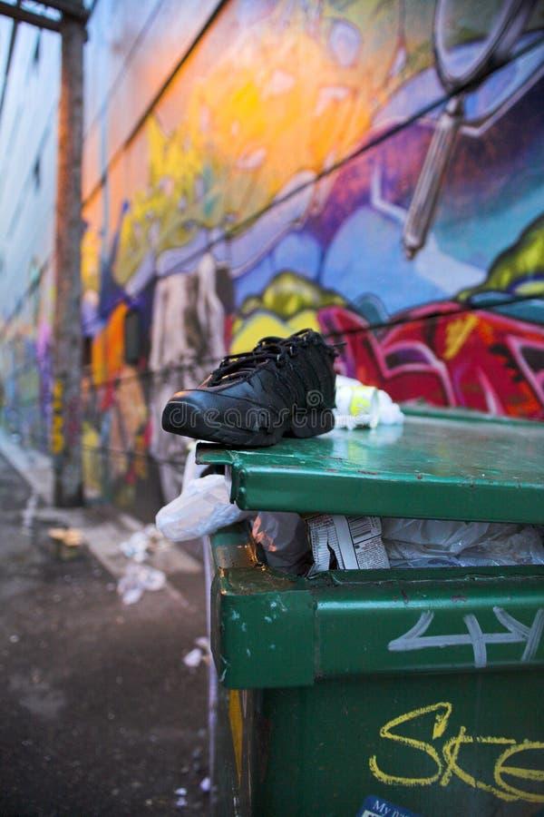 街道标记温哥华 免版税库存照片