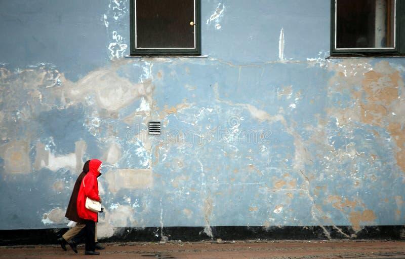 街道步行者 图库摄影