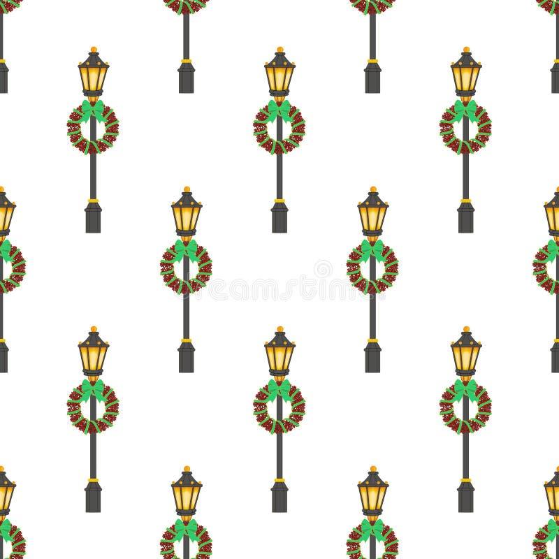 街道灯笼样式 向量例证