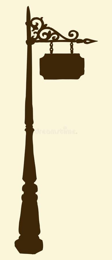 街道灯笼 传染媒介剪影 向量例证