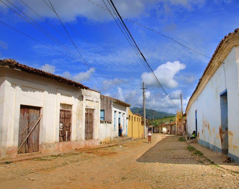 街道特立尼达 免版税库存图片