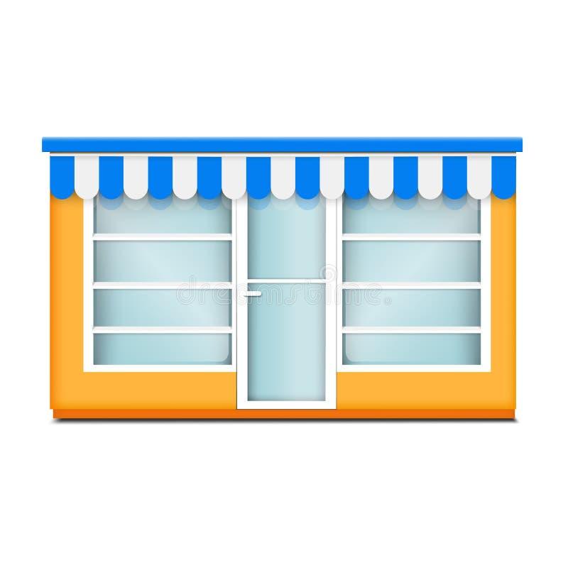 街道玻璃商店象,现实样式 皇族释放例证
