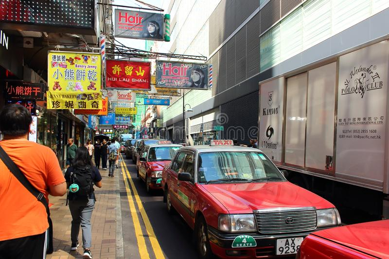 街道生活在亚洲 免版税库存图片