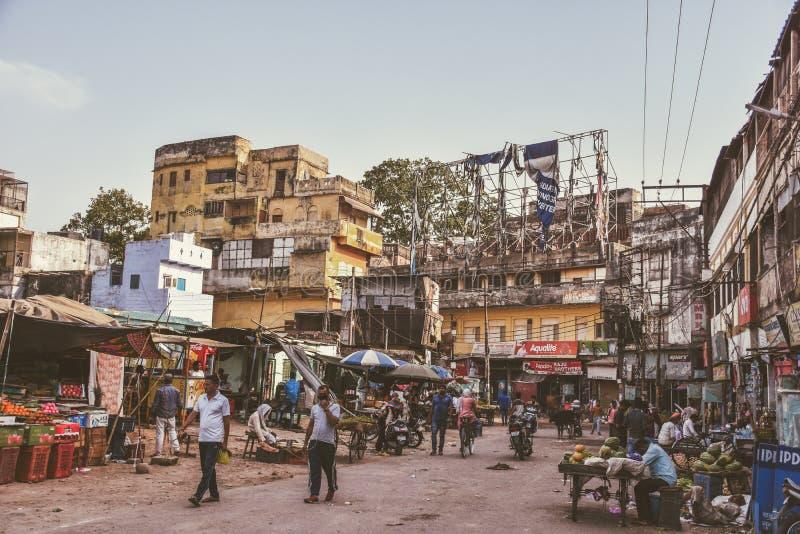 街道生活在瓦腊纳西,印度 库存图片