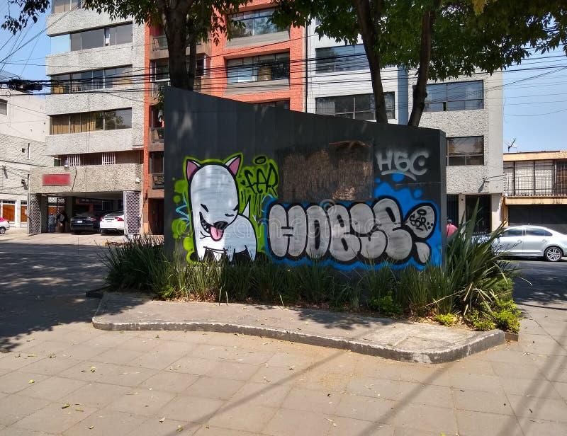 街道画、都市艺术或者故意破坏? 免版税库存图片