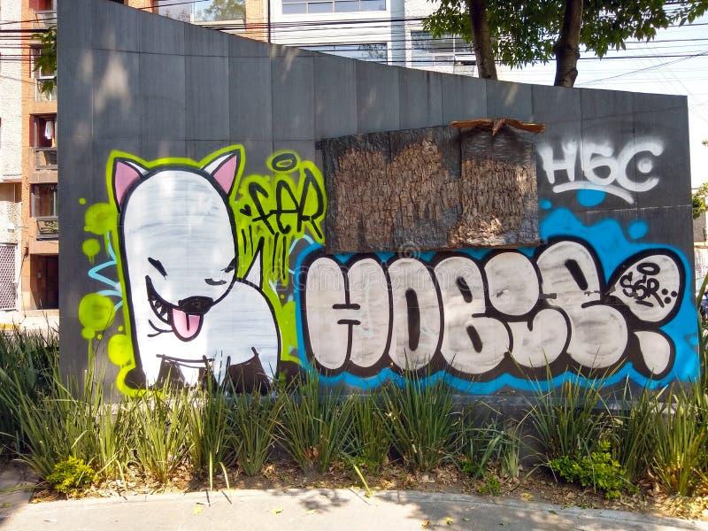 街道画、都市艺术或者故意破坏? 图库摄影