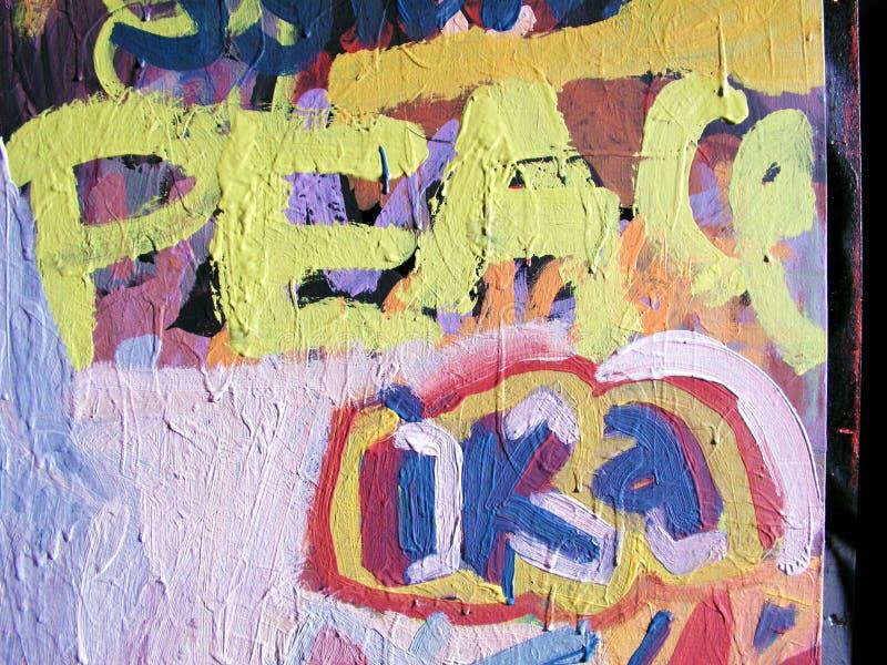 街道画和平 库存例证
