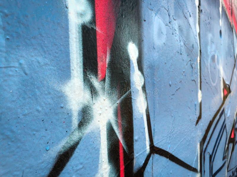 街道画墙壁特写镜头,街道画艺术品细节 免版税库存照片