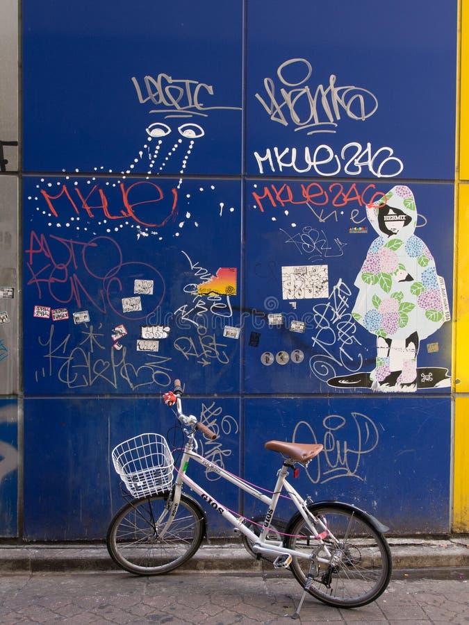 街道画墙壁, Shibuya,东京,日本 免版税库存图片