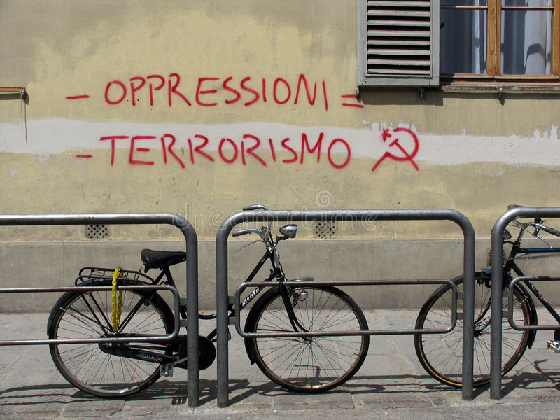 街道画意大利语 库存图片