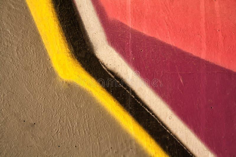街道画的片段 库存照片