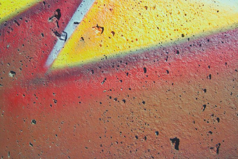 街道画的片段 免版税图库摄影