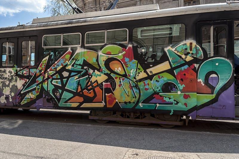 街道画的特写镜头 免版税图库摄影