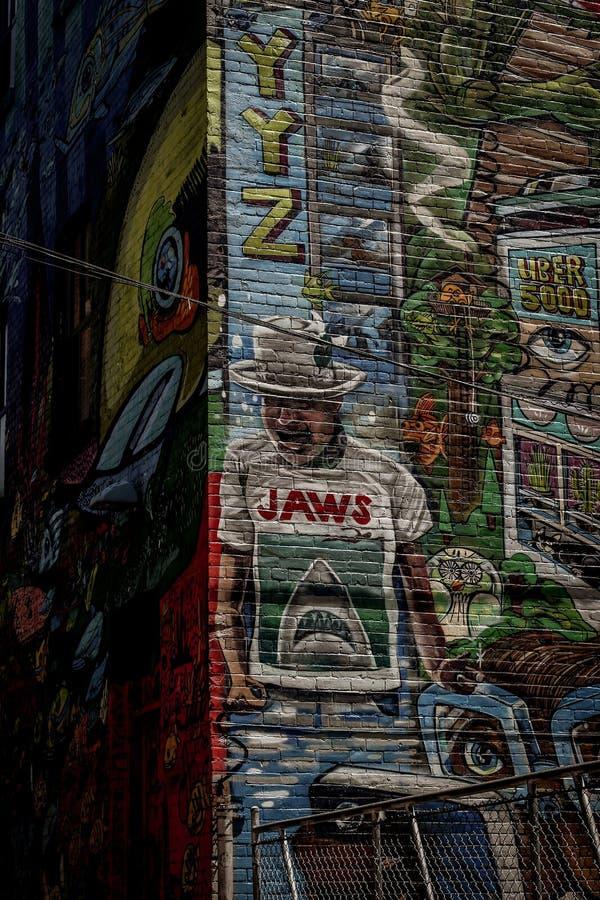 街道画胡同在多伦多 库存照片