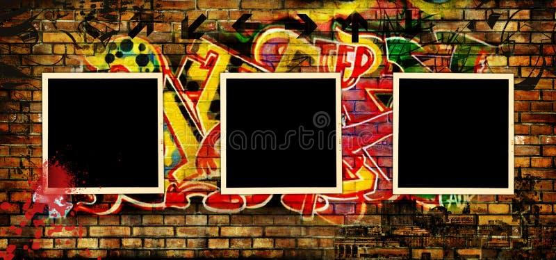 街道画艺术 向量例证