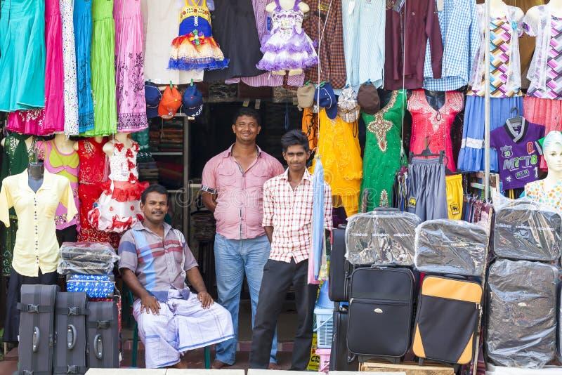 街道的全景在斯里兰卡科伦坡市的首都 免版税图库摄影
