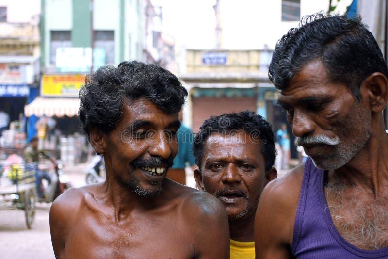 街道的印第安工作者 免版税库存图片