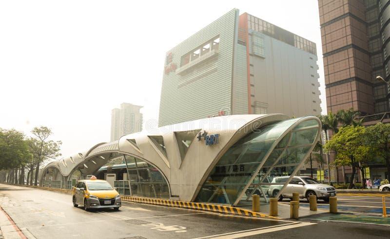 街道看法在台中,台湾 库存照片