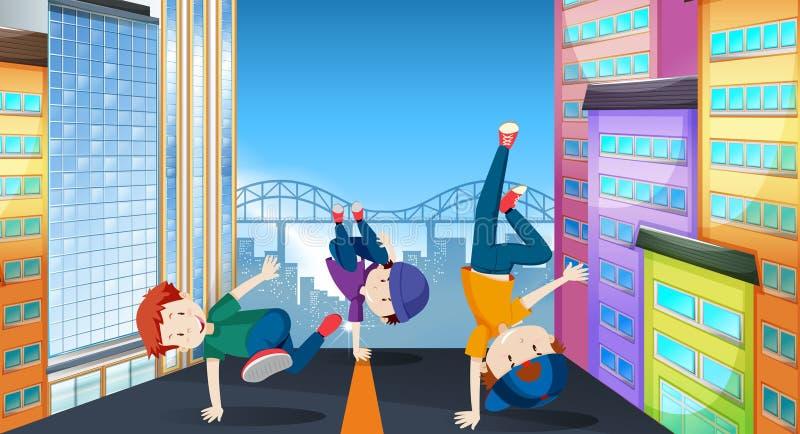 街道舞蹈例证 皇族释放例证