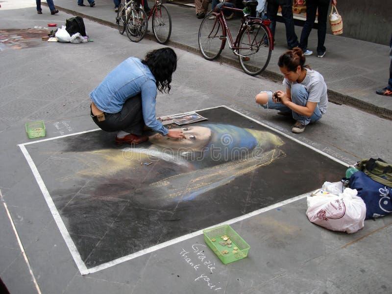 街道艺术在佛罗伦萨,意大利 免版税库存图片