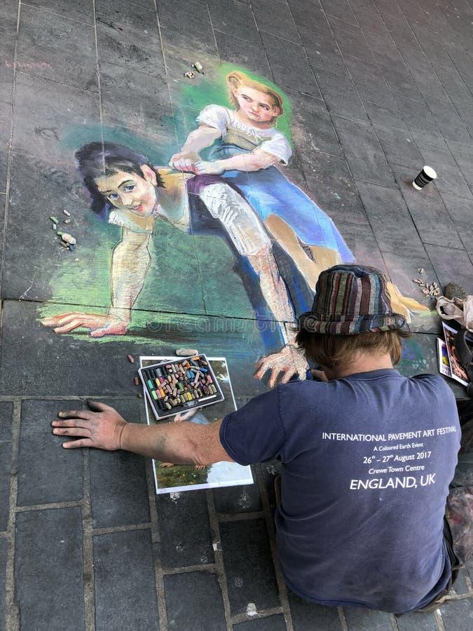 街道艺术在利物浦 库存图片