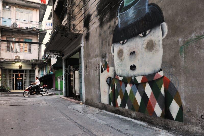 街道艺术在曼谷 免版税库存照片