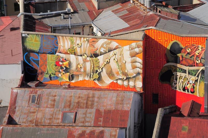 街道艺术在瓦尔帕莱索 库存照片