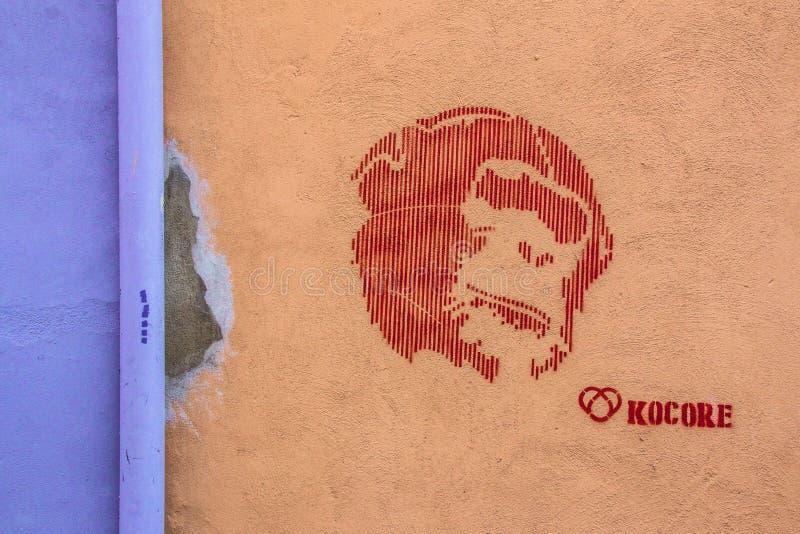 街道艺术在罗马 库存图片