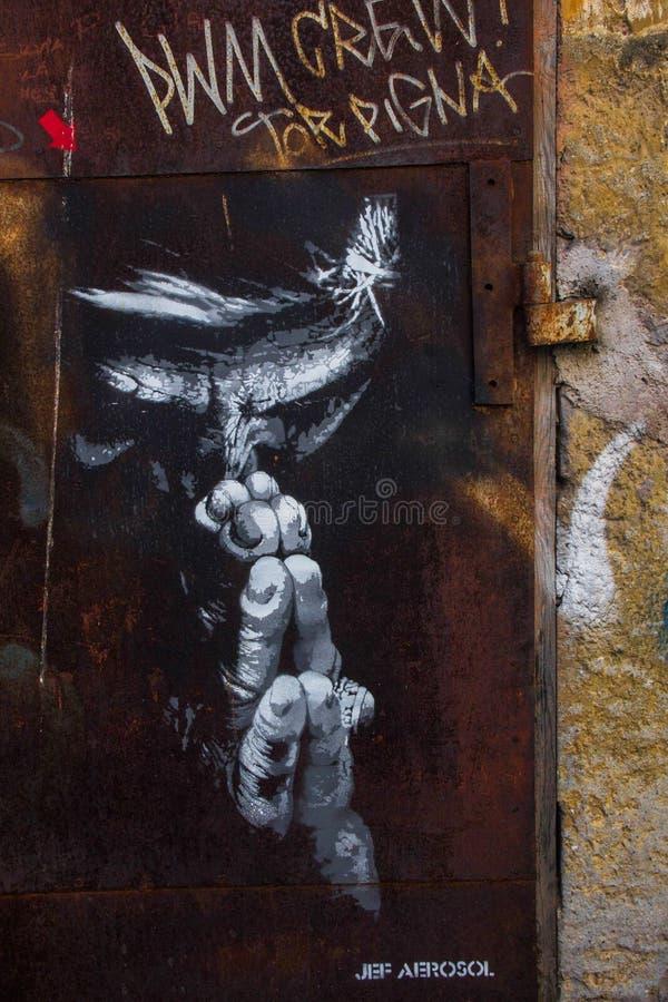 街道艺术在罗马 免版税库存照片