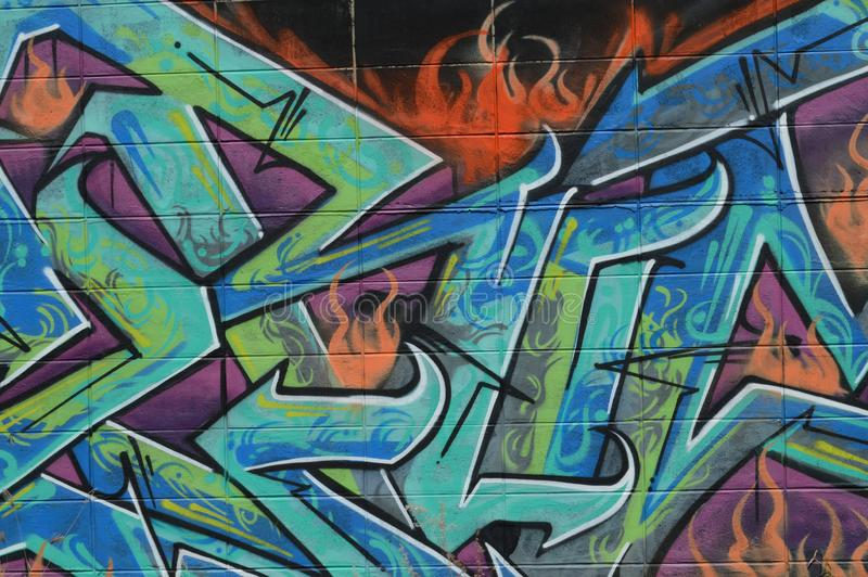 街道艺术家街道画消息  图库摄影