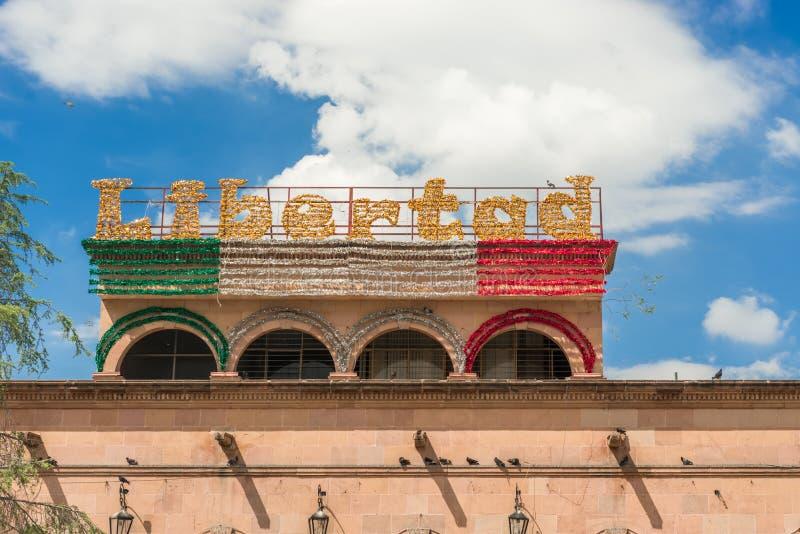 街道装饰在萨尔提略墨西哥 库存照片