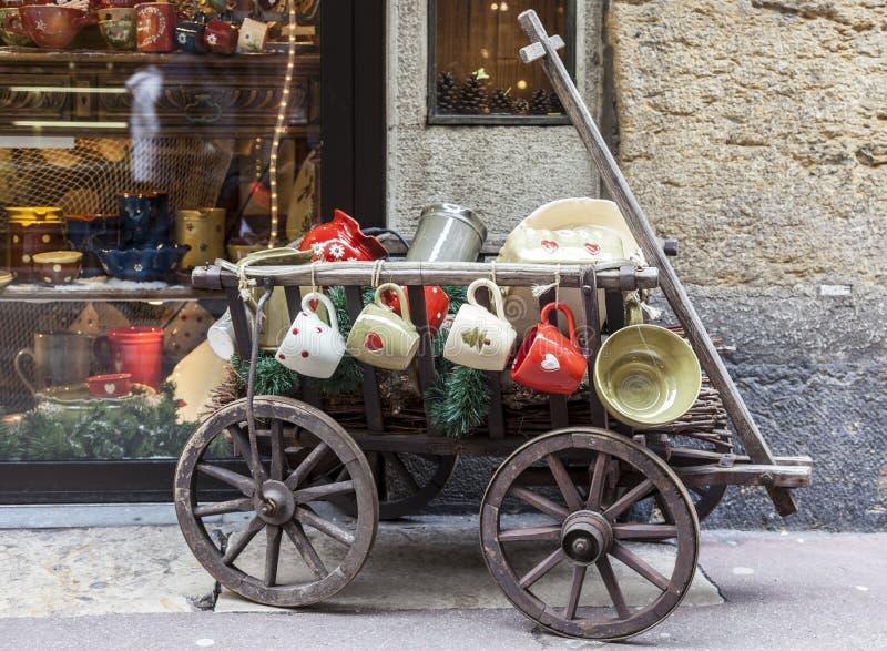 街道装饰-阿讷西威尼斯式狂欢节2013年 免版税库存照片