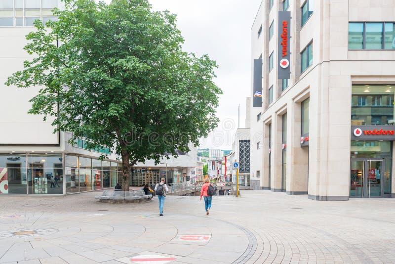 街道视图在斯图加特市,德国 免版税图库摄影