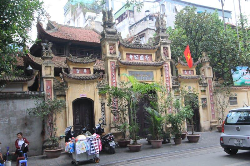 街道视图在河内,越南 免版税库存图片
