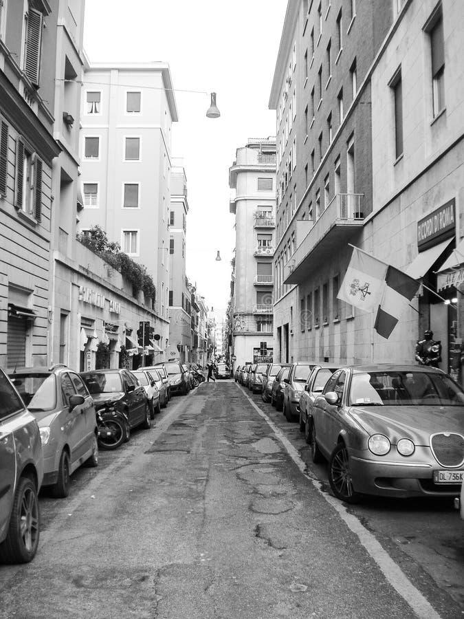 街道视图在罗马 免版税库存照片