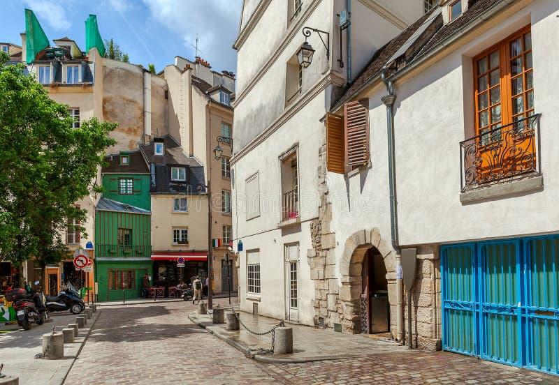 街道视图在巴黎,法国 免版税图库摄影