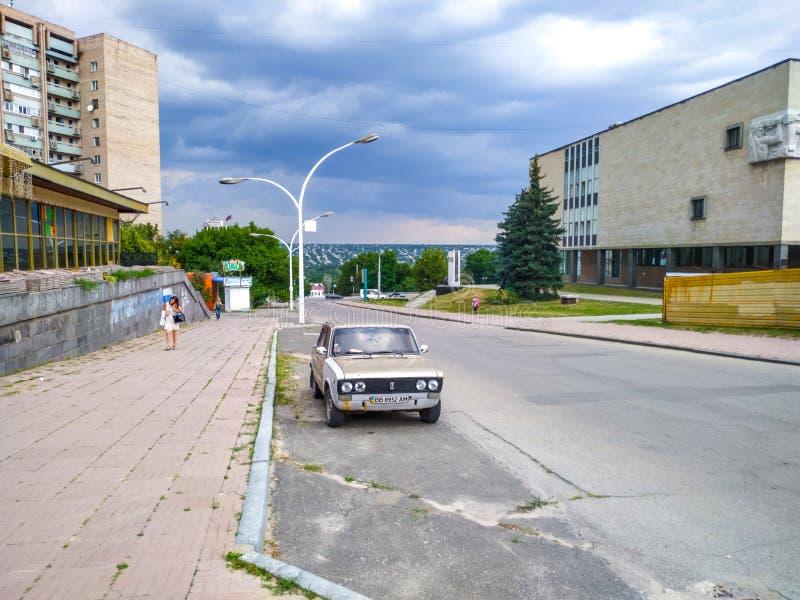 街道视图在Lugansk 地方志博物馆  免版税库存照片