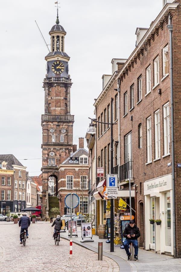 街道视图市中心聚特芬在荷兰 免版税库存照片